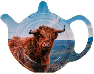 "Teebeutelablage, Kunststoff, mit Motiv ""Highland Cow"" - British Moments"