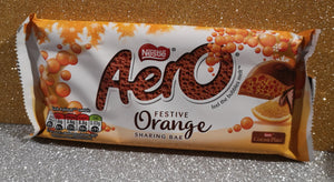 "Aero Luft Schokolade ""Festive orange""  Tafel 100 gr - British Moments"