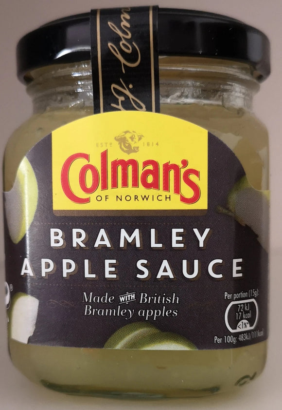 SALE !!!   Colman 's Bramley apple sauce, 155 gr. Glas - British Moments