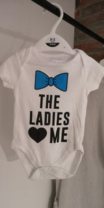 "Baby Body kurzarm "" The ladies love me"" - British Moments"