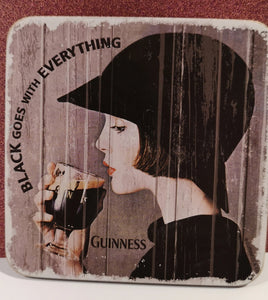 "Guinness Untersetzer ""Coaster"" ""Black goes with everything"" 1 Stück - British Moments"