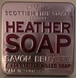 "Scottish fine soaps ""Heather"" Seifenstück in dekorativer Blechdose - British Moments"