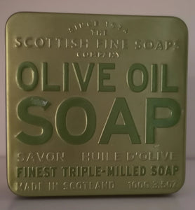 "Scottish fine soaps ""Olive Oil "" Seifenstück in dekorativer Blechdose - British Moments"