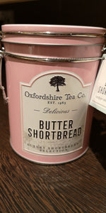 Oxfordshire Tea Co.  Butter Shortbread  in Schmuckdose, rosa, 119 gr - British Moments