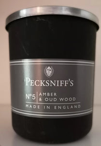 "Peckniff' s Aromatherapie Kerze im Glas  No.5  ""Amber Oatwood"" - British Moments"