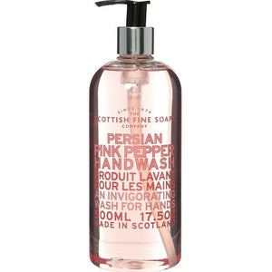 "Scottish Fine Soaps ""Persian Pink Pepper Handwash  ""flüssige Seife für die Hände (500ml) - British Moments"