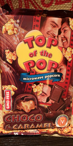 """Top of the Pop"" Mikrowellen Popcorn choco & caramel ,100 gr. - British Moments"