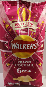 "Walkers Crisps  ""Prawn cocktail""  6er Pack (6x 25 gr.) - British Moments"