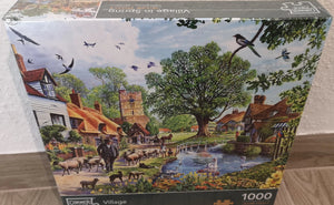 "Puzzle ""Village in Spring"" , 1000 Teile - British Moments"