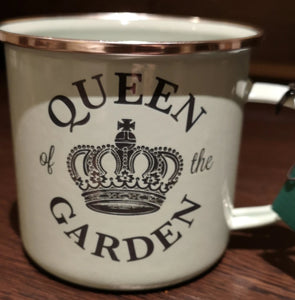"Becher Emaille ""Queen of the garden"" - British Moments"