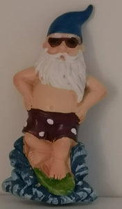 Kühlschrankmagnet Santa Claus in Badehose - British Moments