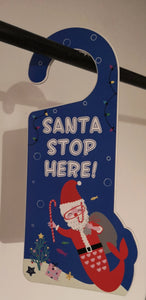 "Türschild ""Santa Stop here"" - British Moments"