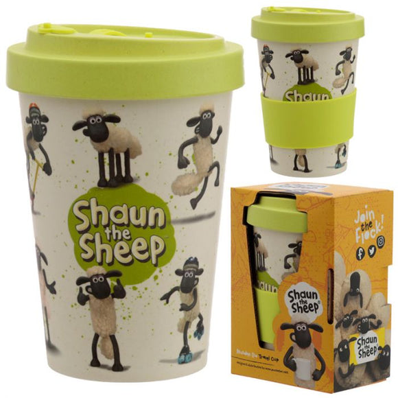 Shaun das Schaf Bambus to go Becher - British Moments