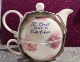 "Tea for one-Set. Blossom & Leaf  ""The best time is tea time "" - British Moments"