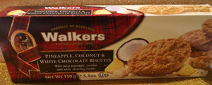 Walkers Pineapple , Coconut and white chocolate biscuits 150 gr Packung - British Moments