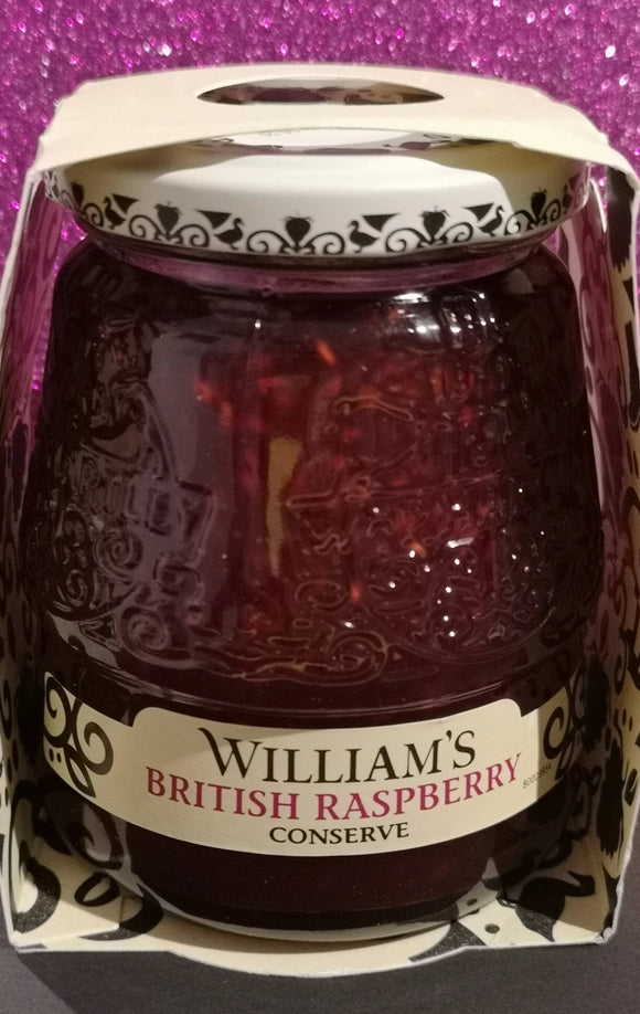William's  British Raspberry Konfitüre, 340 gr Glas - British Moments