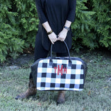 Buffalo Check Duffel Bag - Banana Bug Designs