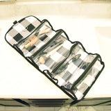 Buffalo Check Roll Up Cosmetic Bag