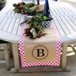 Burlap Holiday Table Runner
