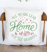 All Roads Lead Home Linen Pillow Cover