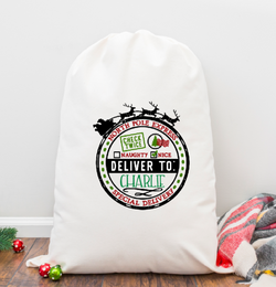 Deliver to Personalized Santa Sack
