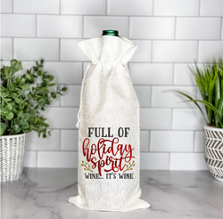 Full of Holiday Spirit!  Wine Bag