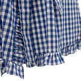 Blue Gingham Ruffle Robe - Banana Bug Designs