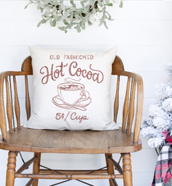 Hot Cocoa Linen Pillow Cover