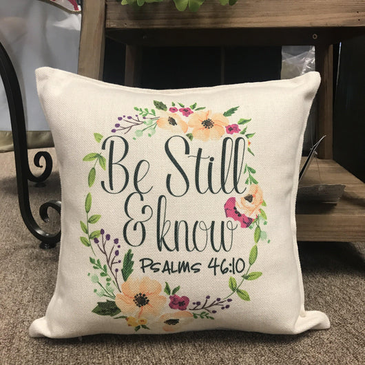Be Still and Know Linen Pillow Cover