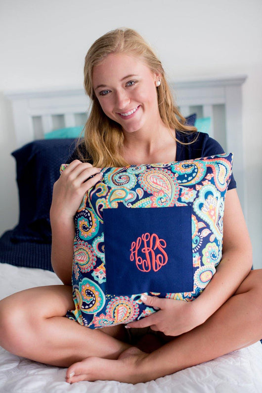 Preppy Monogrammed Pillows