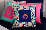 Preppy Monogrammed Pillows - Banana Bug Designs