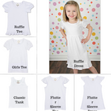 Personalized Swirly Pencil and Bow Tee