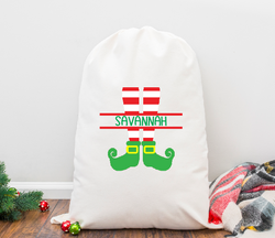 Elf Legs Personalized Santa Sack