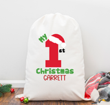 My First Christmas Personalized Santa Sack