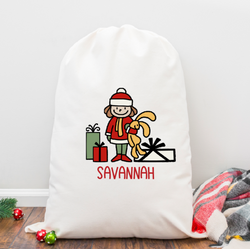 Girl with Gifts Personalized Santa Sack