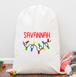 Cute Lights Personalized Santa Sack