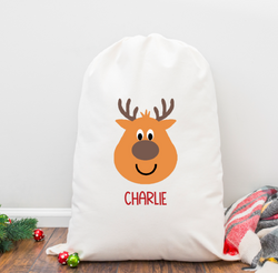 Reindeer Boy Personalized Santa Sack