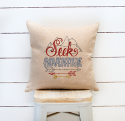 Seek Adventure Pillow Cover