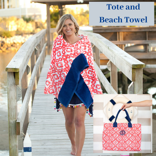 Catalina Tote and Towel Set