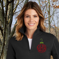 Ornament Monogram Frame Pullover