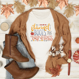 Flannel, Boots, and Bonfires Tee