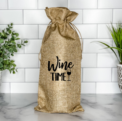 Wine Time Wine Bag