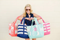 Monogrammed Canvas Tote