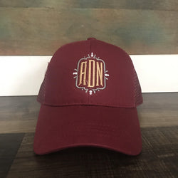 Monogrammed CC High Ponytail Hat