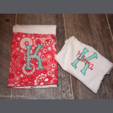 Monogrammed One-Piece and Bib Combo