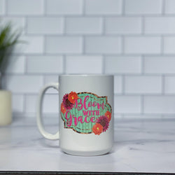 Bloom with Grace Ceramic Tumbler
