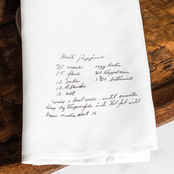Handwritten Recipe Tea Towel