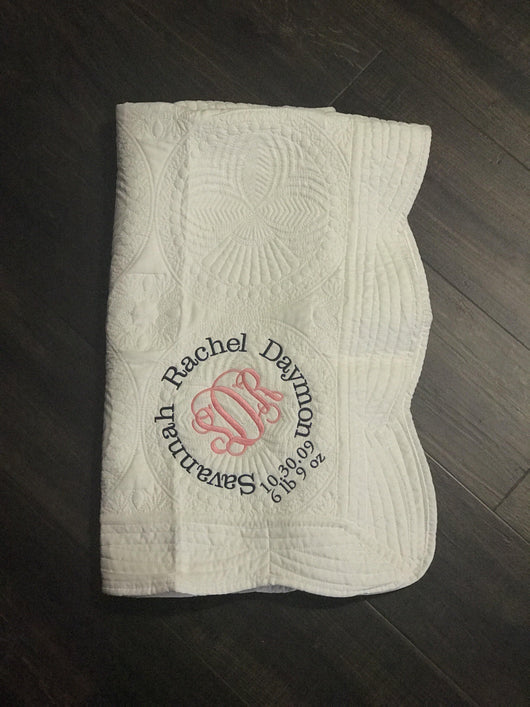 Personalized Heirloom Baby Blanket