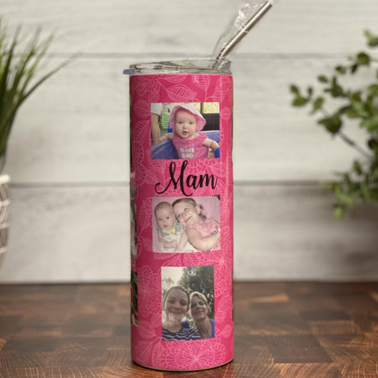 Photo Collage Slim Tumbler