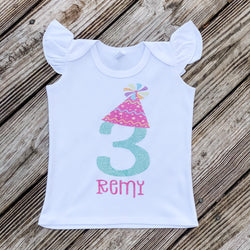 Birthday Hat Personalized  Tee